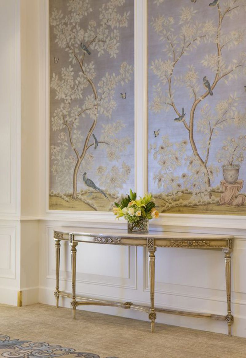 Design Inspiration Hand painted and Chinoiserie wall