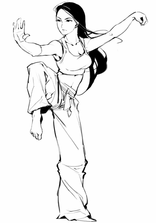 Marvelous Discipline Focus Discipline Art Poses Martial Arts Girl Martial Arts Anime
