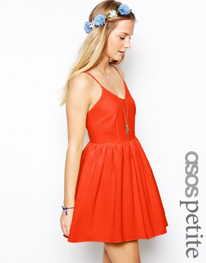 Petite exclusive textured check sundress soo pretty looks i