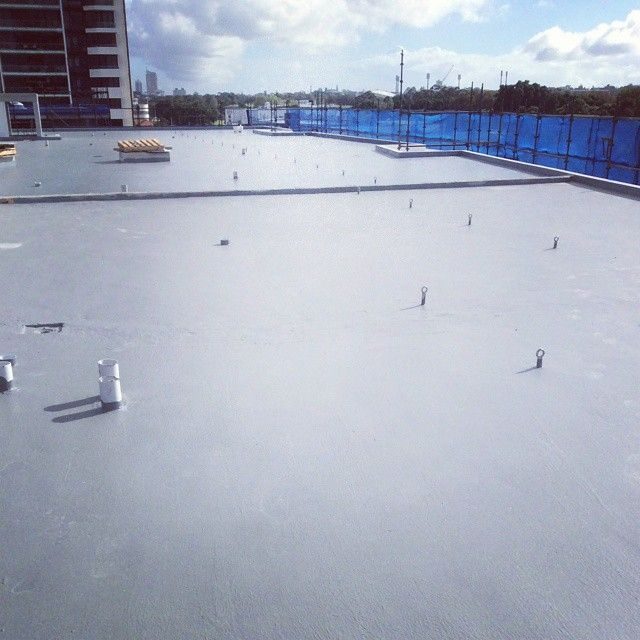 A Kodex Uv Stable Full Trafficable Polyurethane Waterproofing System Was Applied On The Roof Top With A Extended 20yr Warranty Kodex Outdoor Rooftop Stables