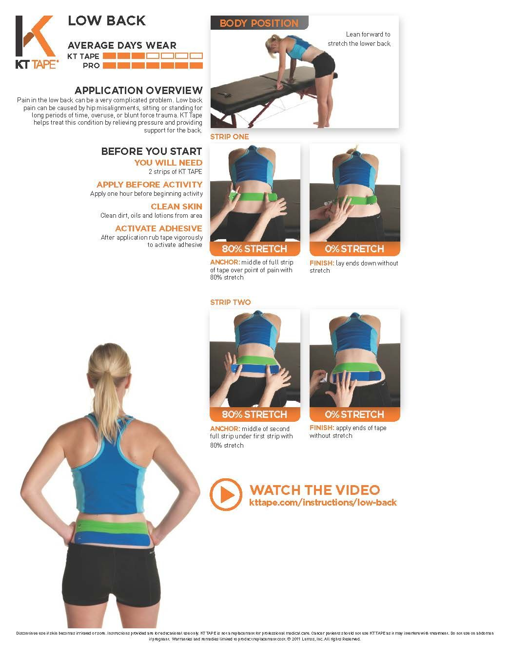 Low Back Taping Kt Tape Helps Treat This Condition By Relieving