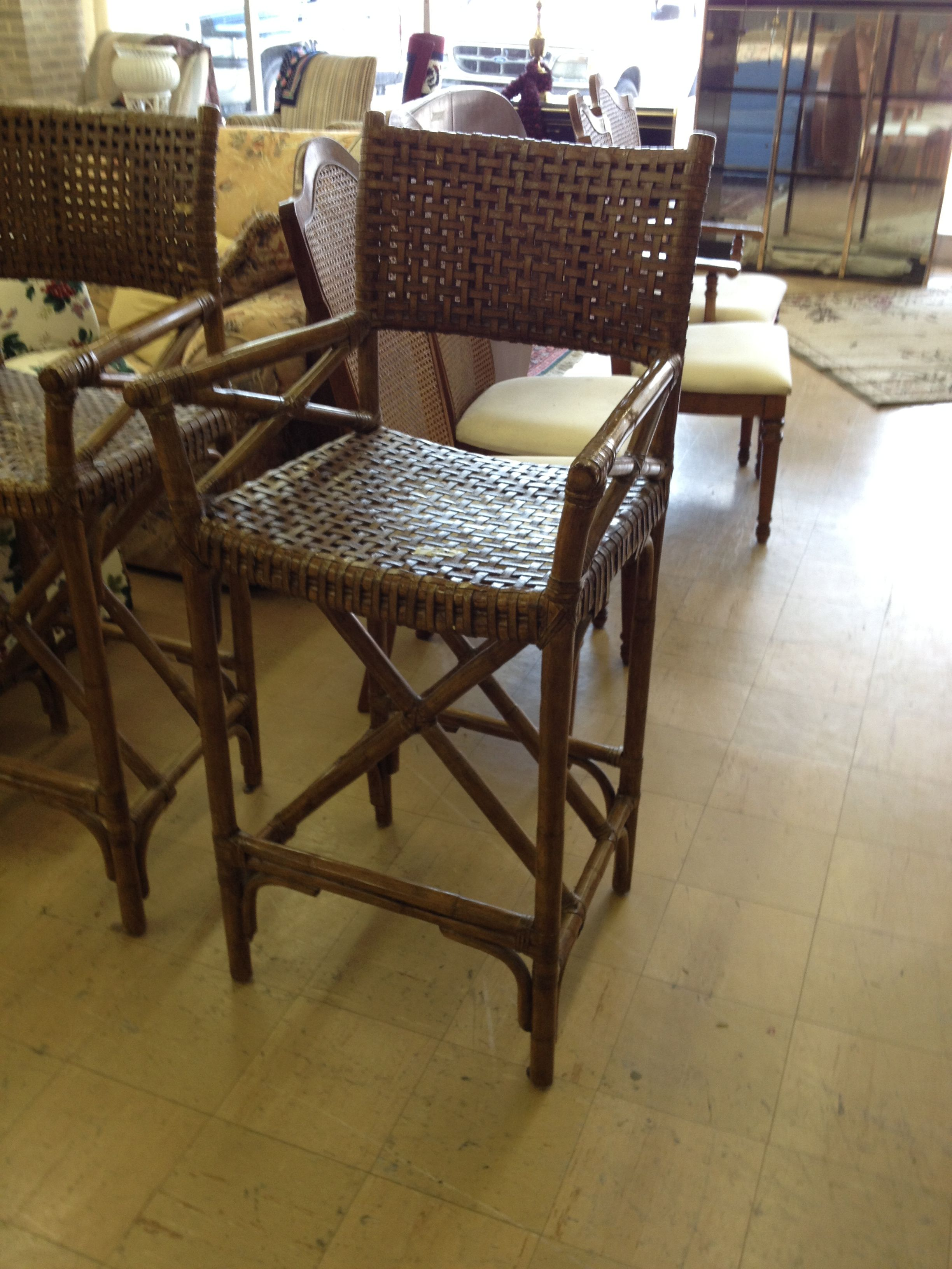 bamboo bar chairs 15 each i brake for yard sales thrift stores