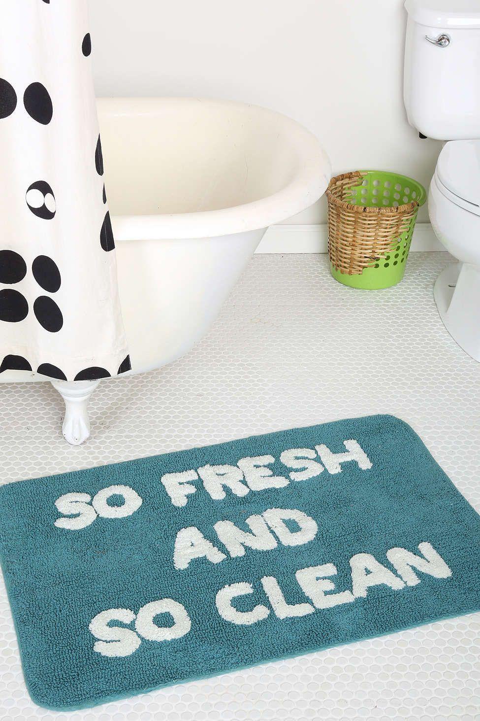 So Fresh So Clean Bath Mat Bath mat, Bath, Bathroom mats