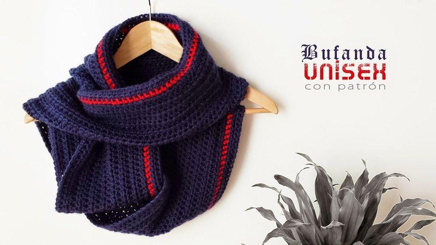 Cómo hacer un bufanda unisex: ¡Protégete del frío! | Ganchillo ...