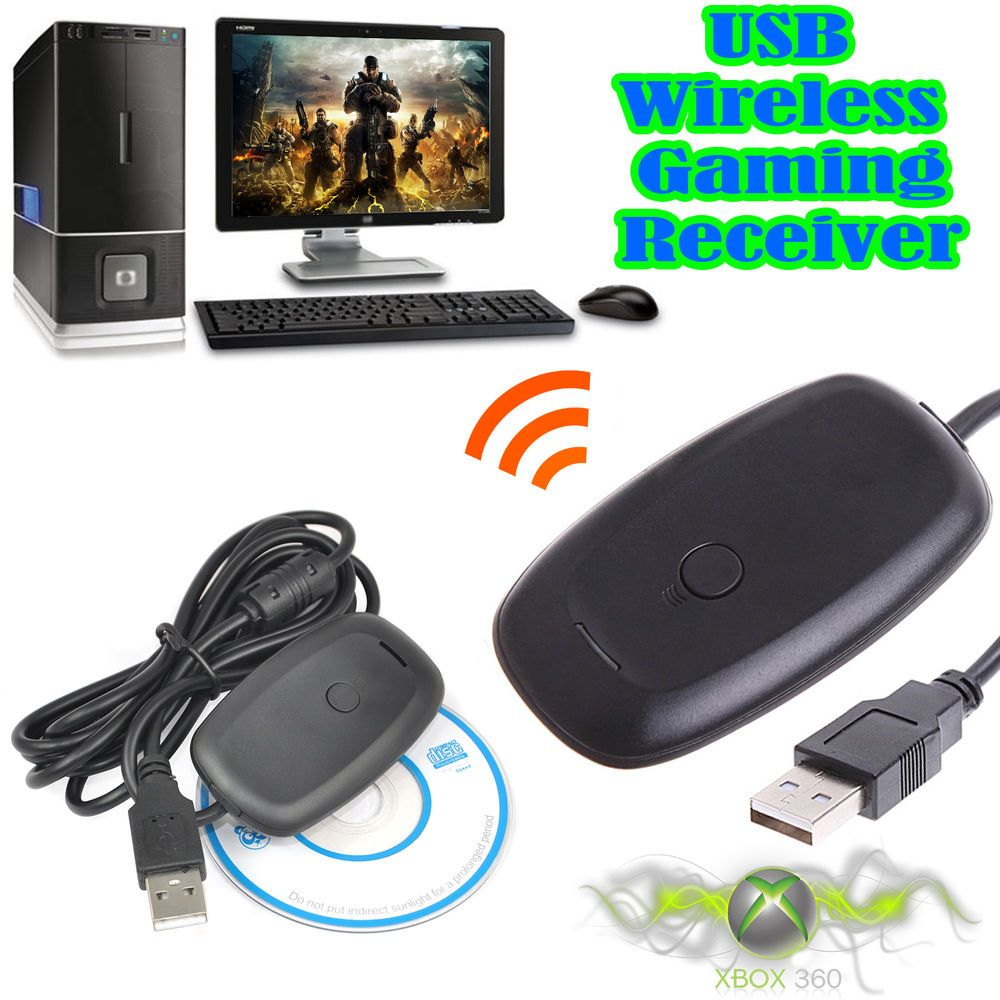 Windows PC Wireless USB Gaming Receiver Adapter For Xbox