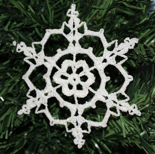Free Crochet Snowflake Ornament Patterns | CROCHETED FREE PATTERN ...
