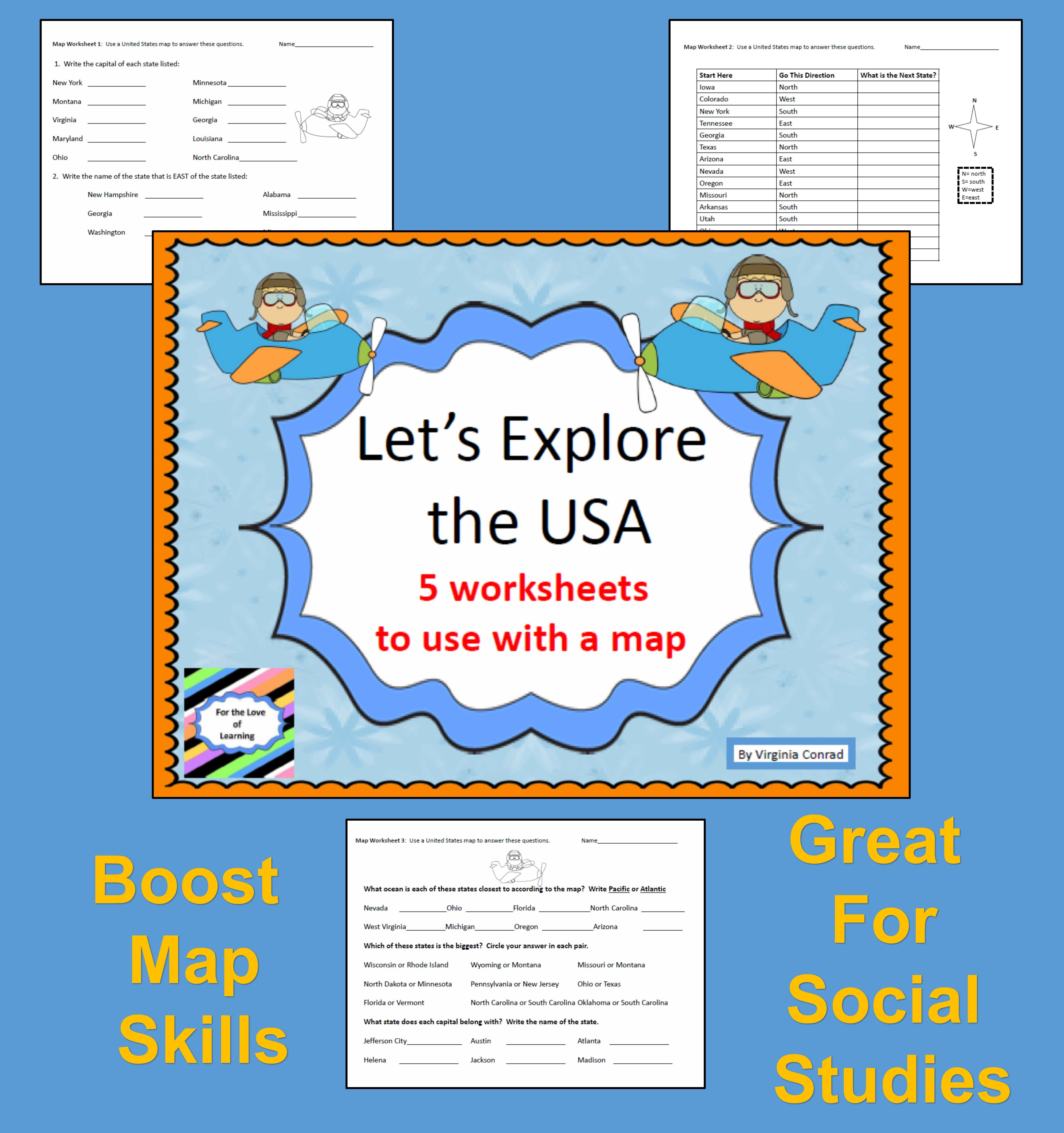 Map Skills Let S Explore The Usa