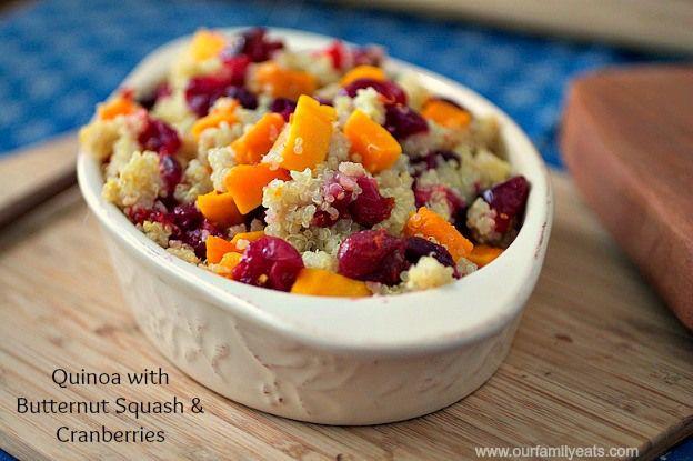 Quinoa Cranberries Butternut Squash