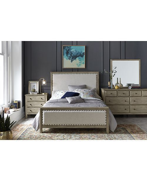 Parker Upholstered Queen Bed, Created for Macy\u0027s Bedrooms