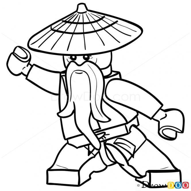 How to Draw Sensei Wu Lego Ninjago Ninjago coloring