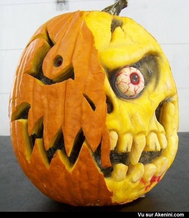 Modele citrouille halloween effrayante - Citrouille effrayante ...