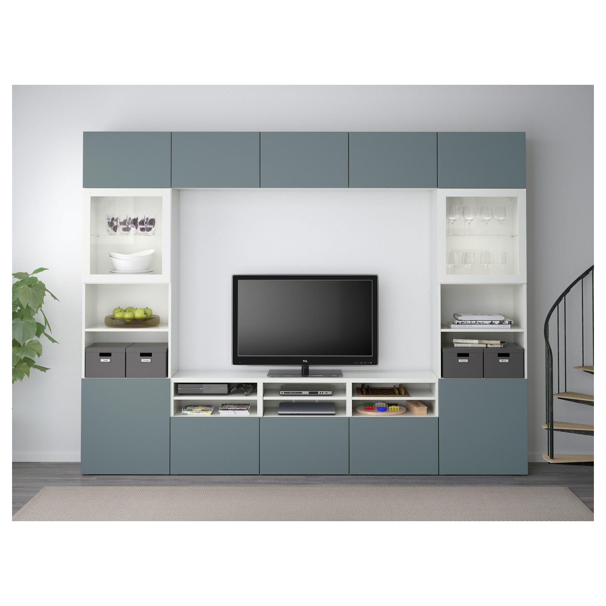 Ikea Best Tv Storage Combinationglass Doors Decor Pinterest