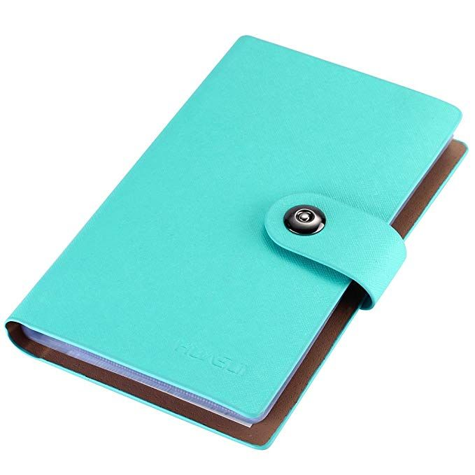 business card holder book pu leather 300 name cards