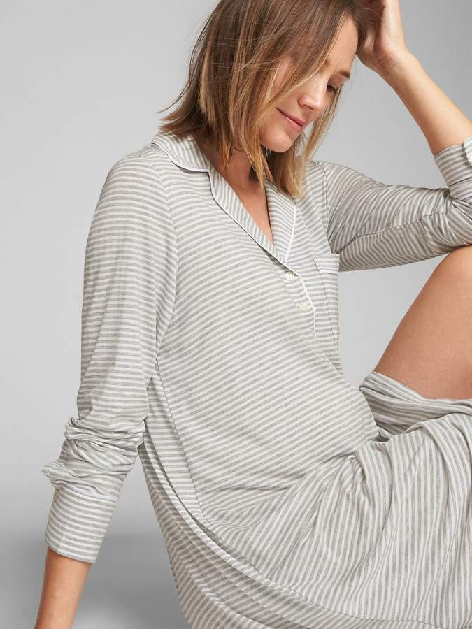 3a5beae7dc386 Maternity Print Sleep Shirt | Products | Sleep shirt, Maternity ...