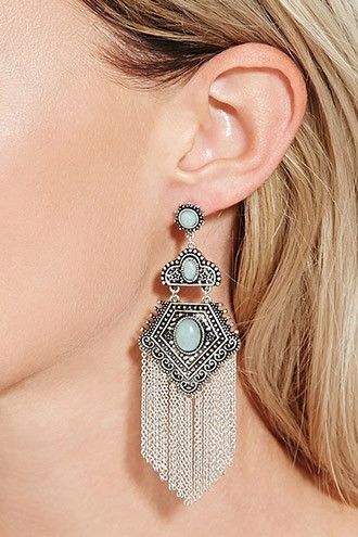 Chained Drop Earrings Forever 21 1000182994