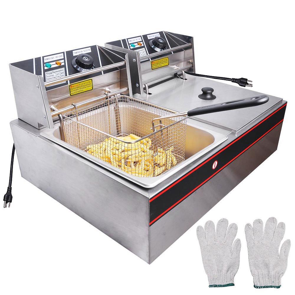 Home Deep Fryer Electric Deep Fryer Stainless Steel Countertops