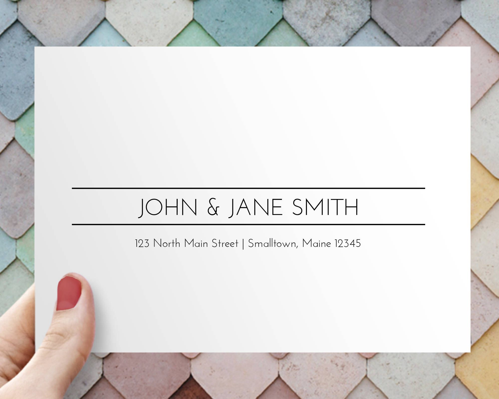 Clean And Modern Envelope Address Bundle Printable Envelope - Wedding invitation envelope address template