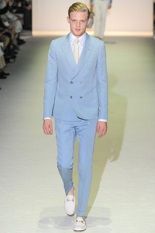 Men'S Powder Blue Suit Dress Yy