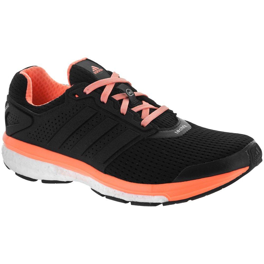 6146883d5 adidas supernova Glide 7 Boost Women s Black Flash Orange at  holabirdsports.com