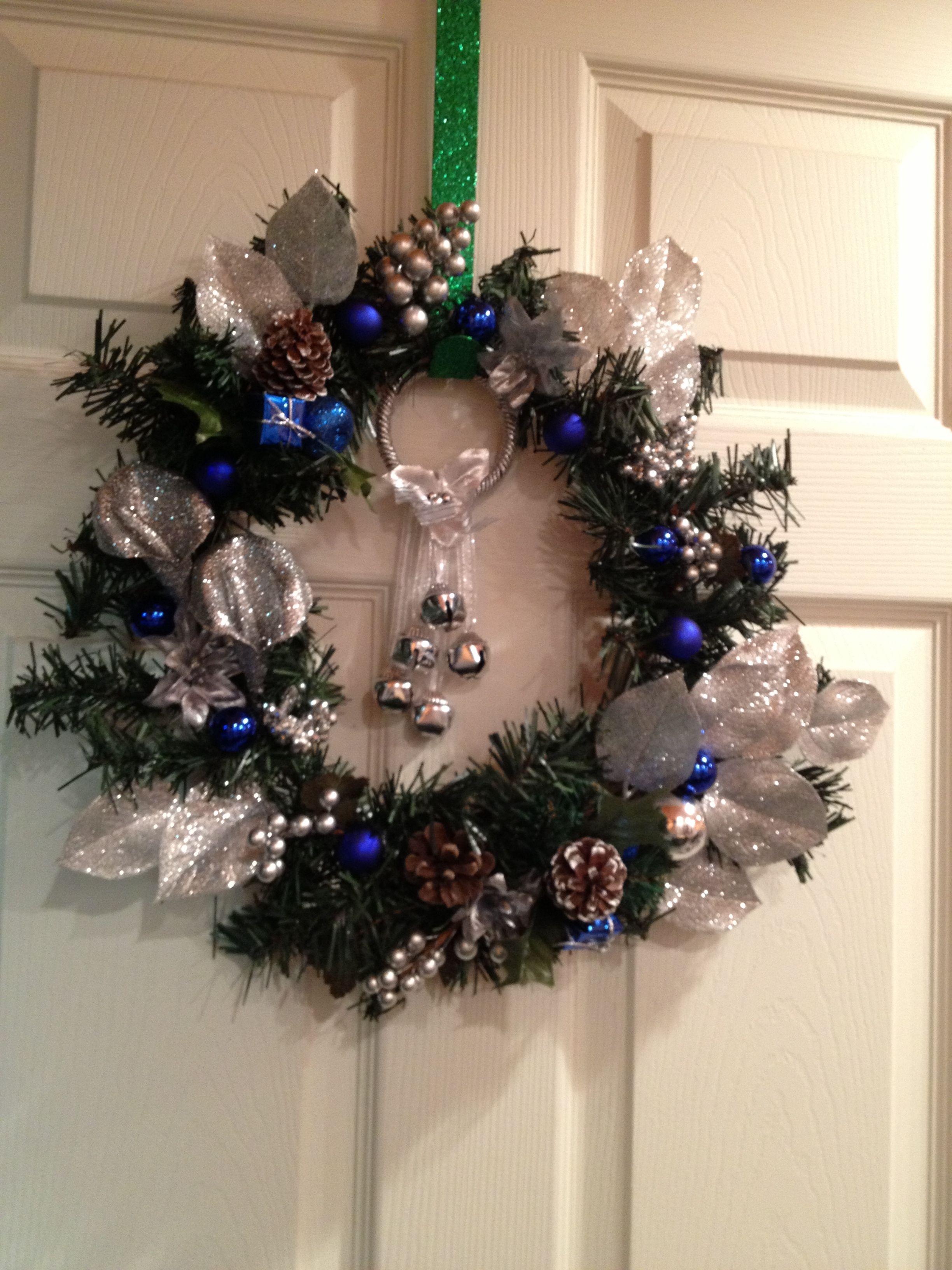 Dollar store wreath wreaths christmas wreaths hanukkah