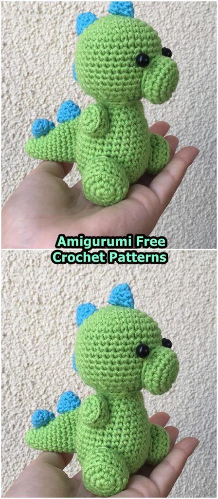 Amigurumi Dinosaur Dino Free Crochet Pattern - Crochet.msa.plus #crochetdinosaurpatterns