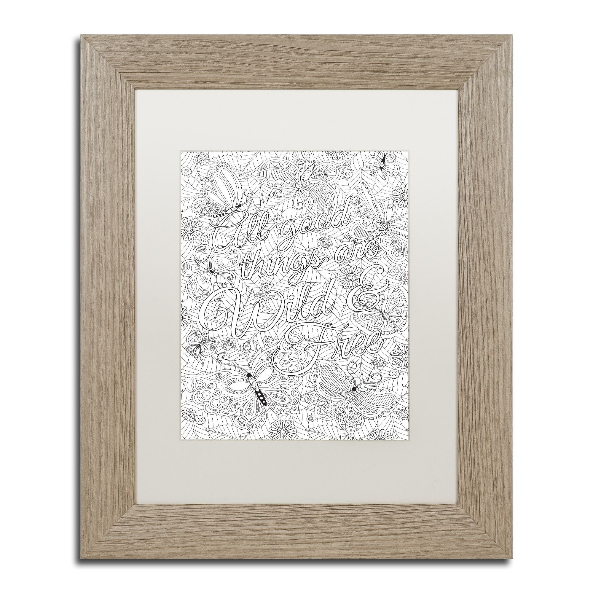 Hello Angel 'All Good Things are Wild and Free' Matted Framed Art