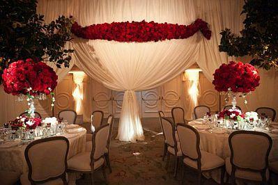 Decoracion de bodas en blanco y rojo vestido de la peque for Decoracion en rojo y blanco