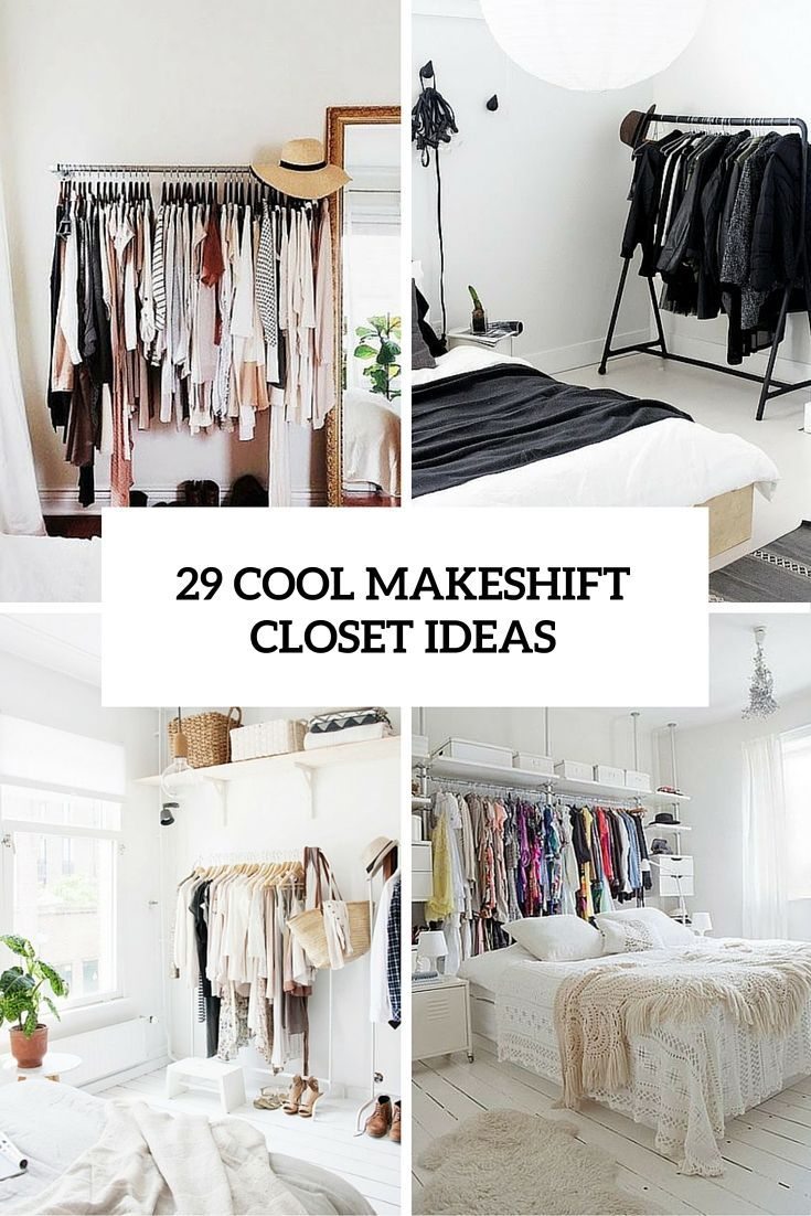 29 cool makeshift closet ideas for any home digsdigs - Room with no closet ...