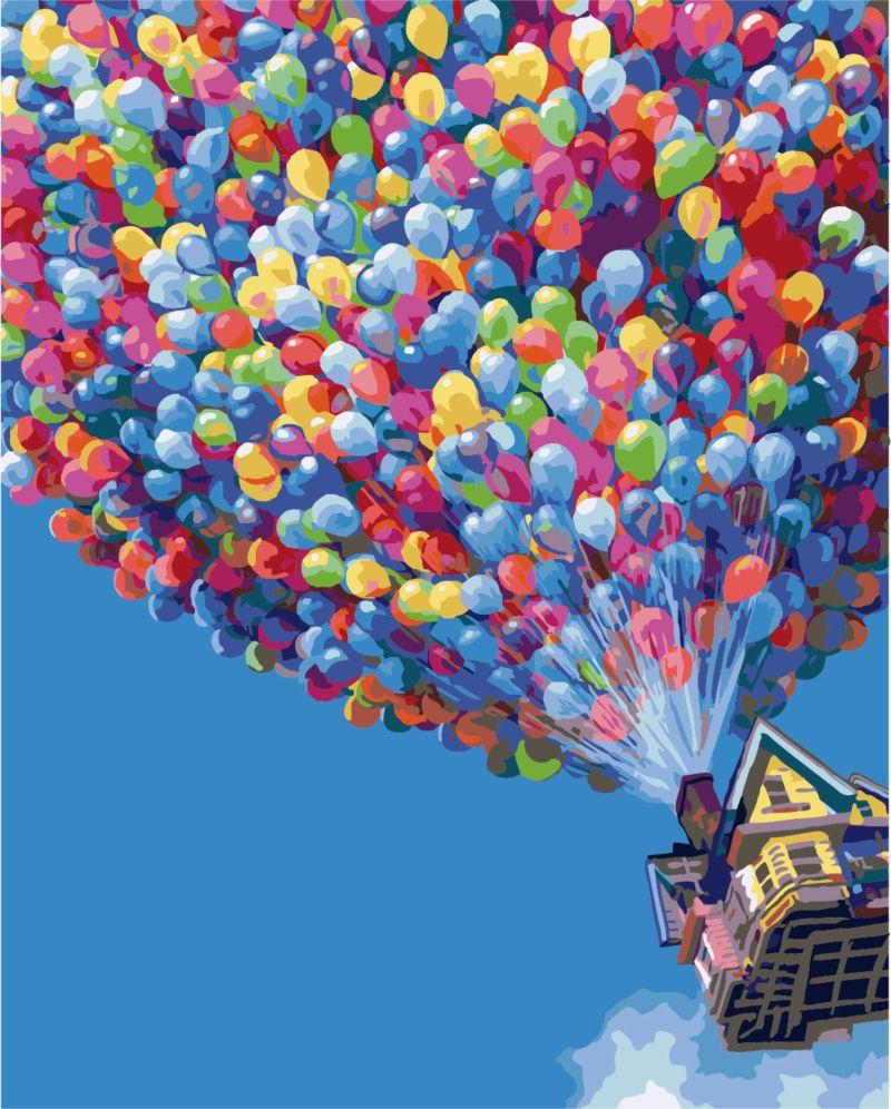Купить картину: Полет на воздушных шариках, G396 | BRUSHME ...