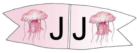 Toothpick Alphabet J