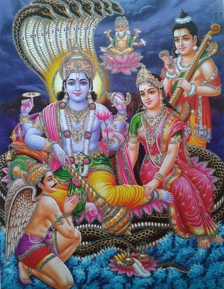 Pin by Jayapal reddy on Vishnu Lord vishnu wallpapers