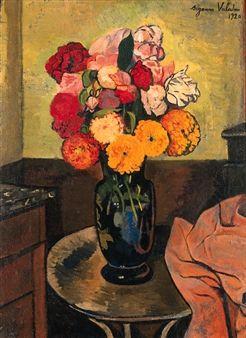 vase de fleurs sur une table ronde by suzanne valadon les fleurs nous parlent il y a des. Black Bedroom Furniture Sets. Home Design Ideas