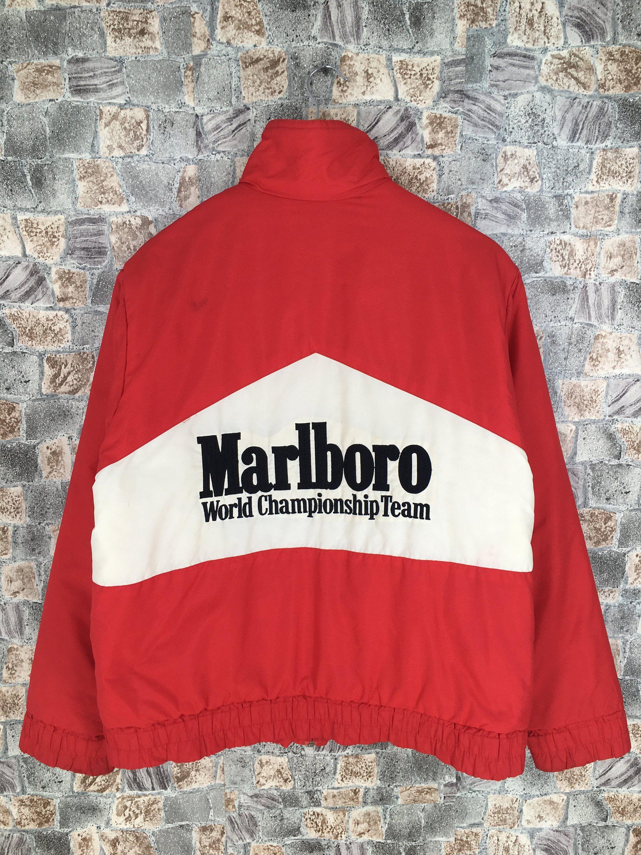 Malboro Windbreaker Jacket Medium Vintage 90 S Malboro Etsy Windbreaker Jacket White Jacket Kawasaki Jacket