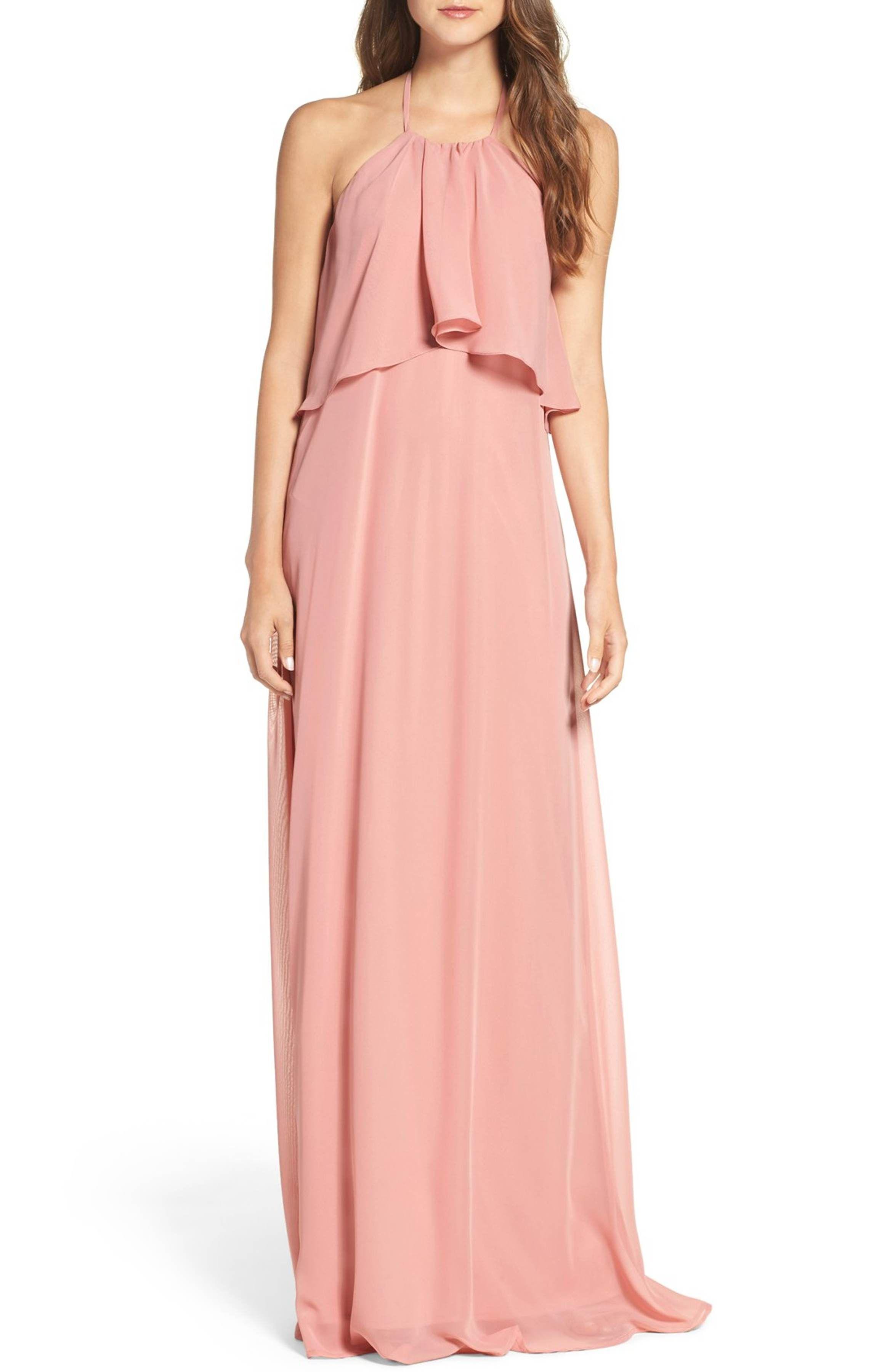 Main Image - nouvelle AMSALE \'Cait\' Chiffon Halter Gown | Want ...