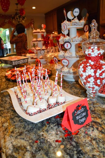 Liv's First Birthday - Ladybug Themed DIY  #dessertbar #firstbirthday #desserts #ladybug #redandblack