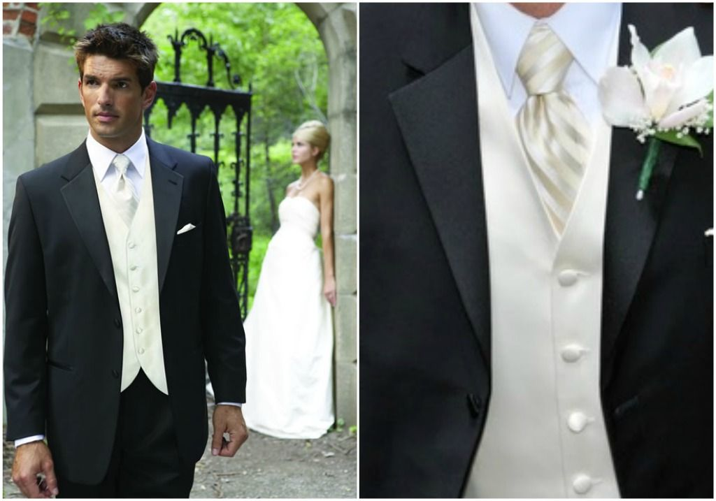 charcoal grey suit with ivory shirt and vest | ... the boys to ...