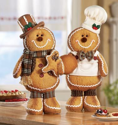 stuffed toy Gingerbread Men | Plush Gingerbread Men in Costumes from Collections Etc.