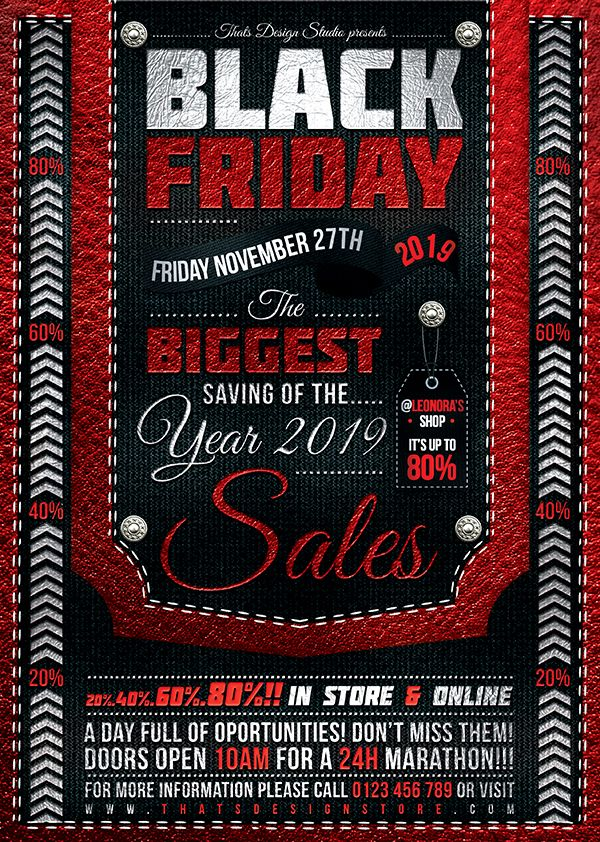 Black Friday Flyer Template Psd Customizable With Photoshop Flyer