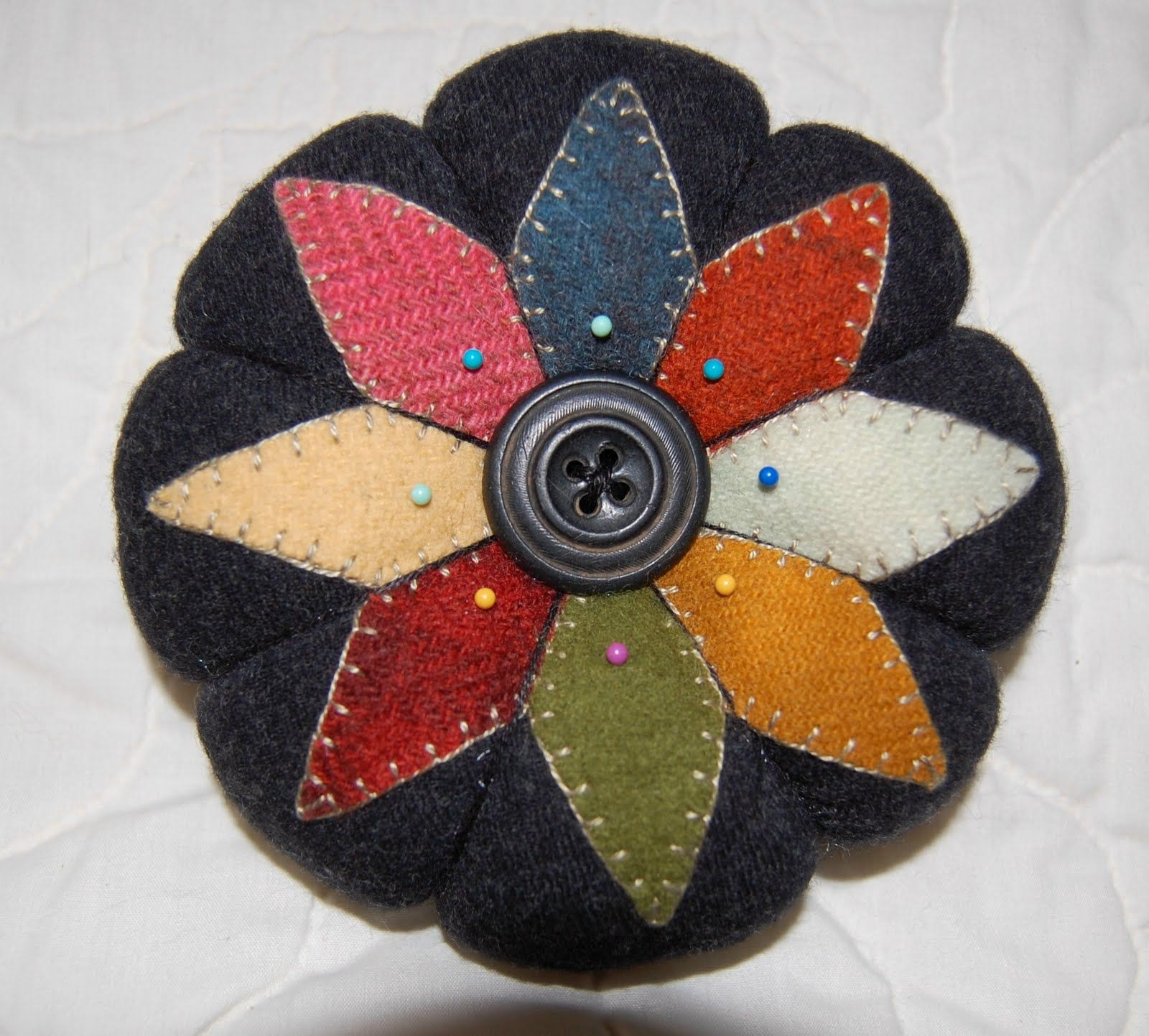 Cat Haven Craft House - pincushion from a Cottage Creek pattern