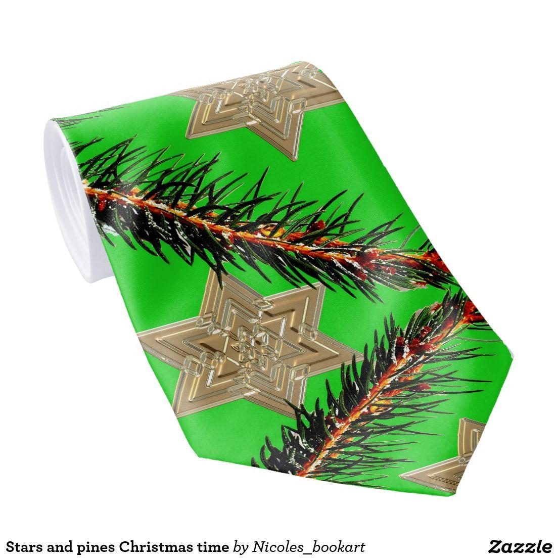 Stars and pines Christmas time