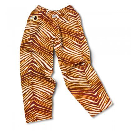 Outdo Every Other Washington Fan Out There With These Fun Zubaz Pants They Feature Zebra Print Redskins Colors With Zebra Pant Logo Pants Kansas City Chiefs