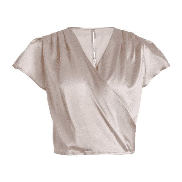 f0fef83ede9 Crossed Front Cut Out Satin Top ( 15) ❤ liked on Polyvore featuring tops
