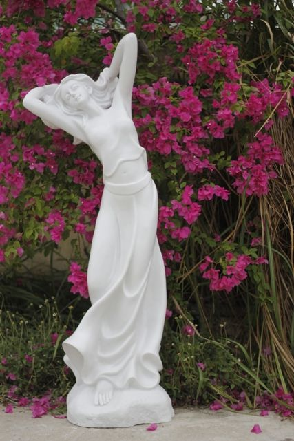 Statue Molded Stone Powder U2013 White Natural White Stone U2013 Not Painted.  Ornamental Landscape Outdoor Garden And Indoor. To Withstand Sun And Rain,  ...