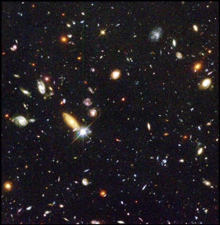 deep field by Hubble