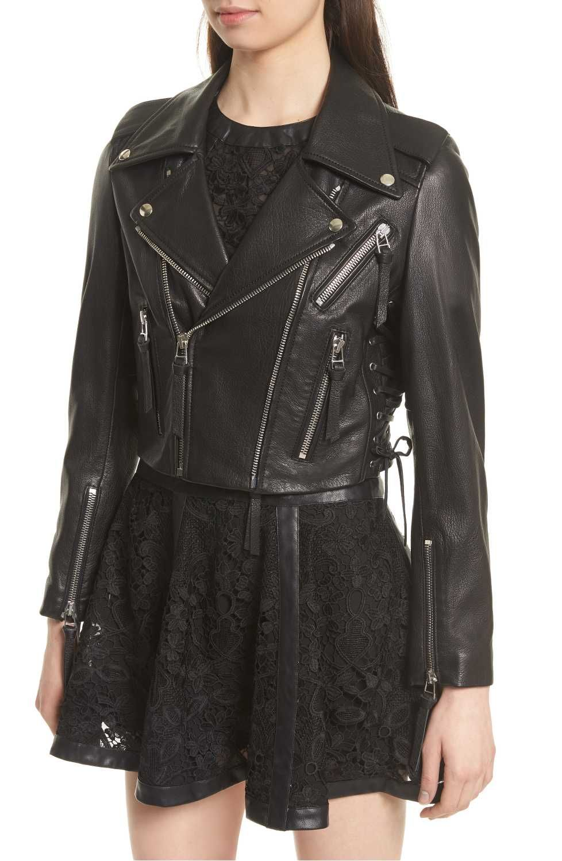 Leather jacket aesthetic - Kooples Lace Up Leather Jacket Wardrobe Aesthetic Goals Pinterest Lace Lace Up And Leather Jackets