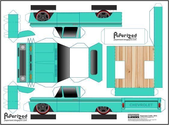 43++ Cardboard pickup truck template ideas