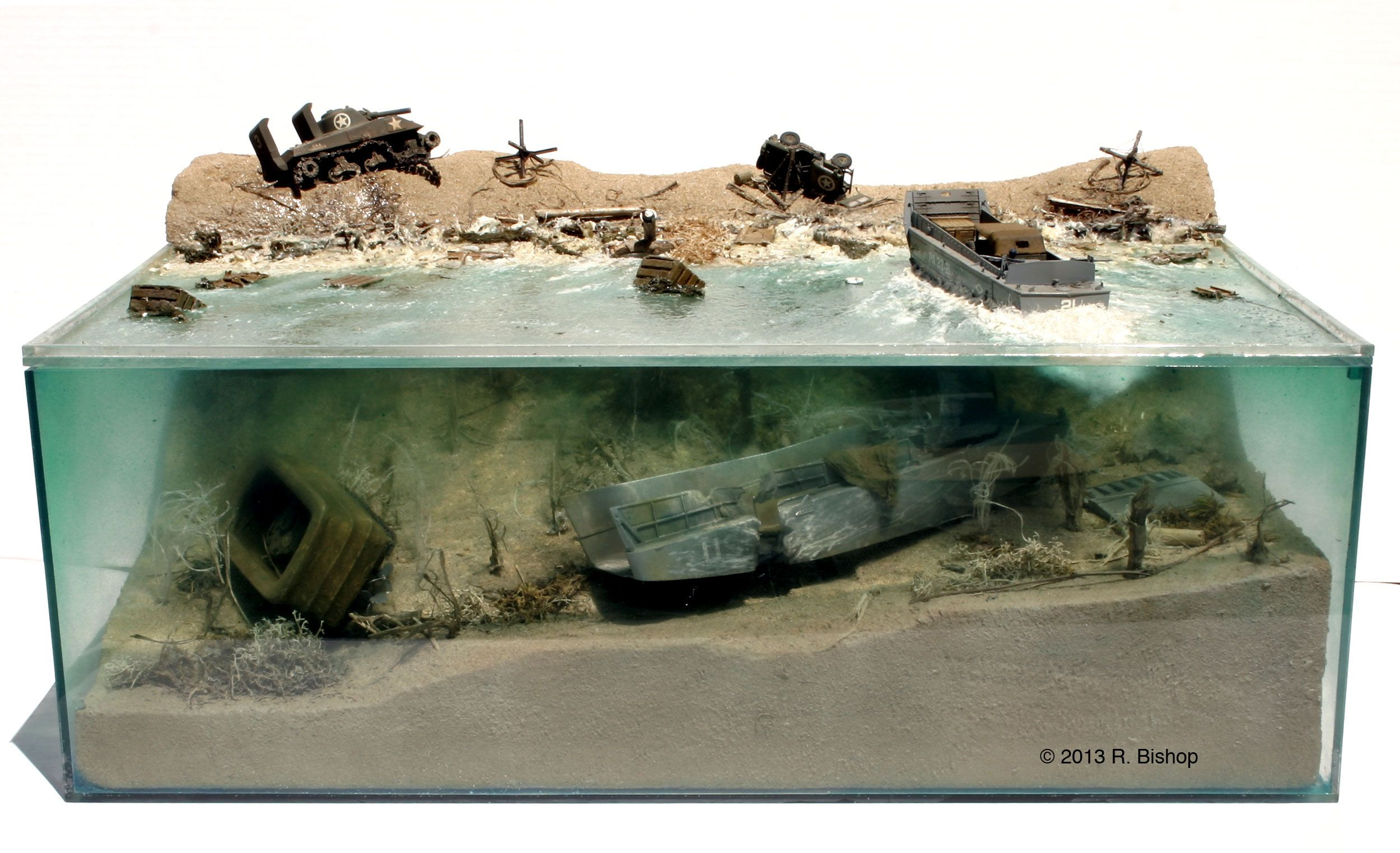 D Day Diorama Quot Depicting Invasion Damage On Normandy Beach
