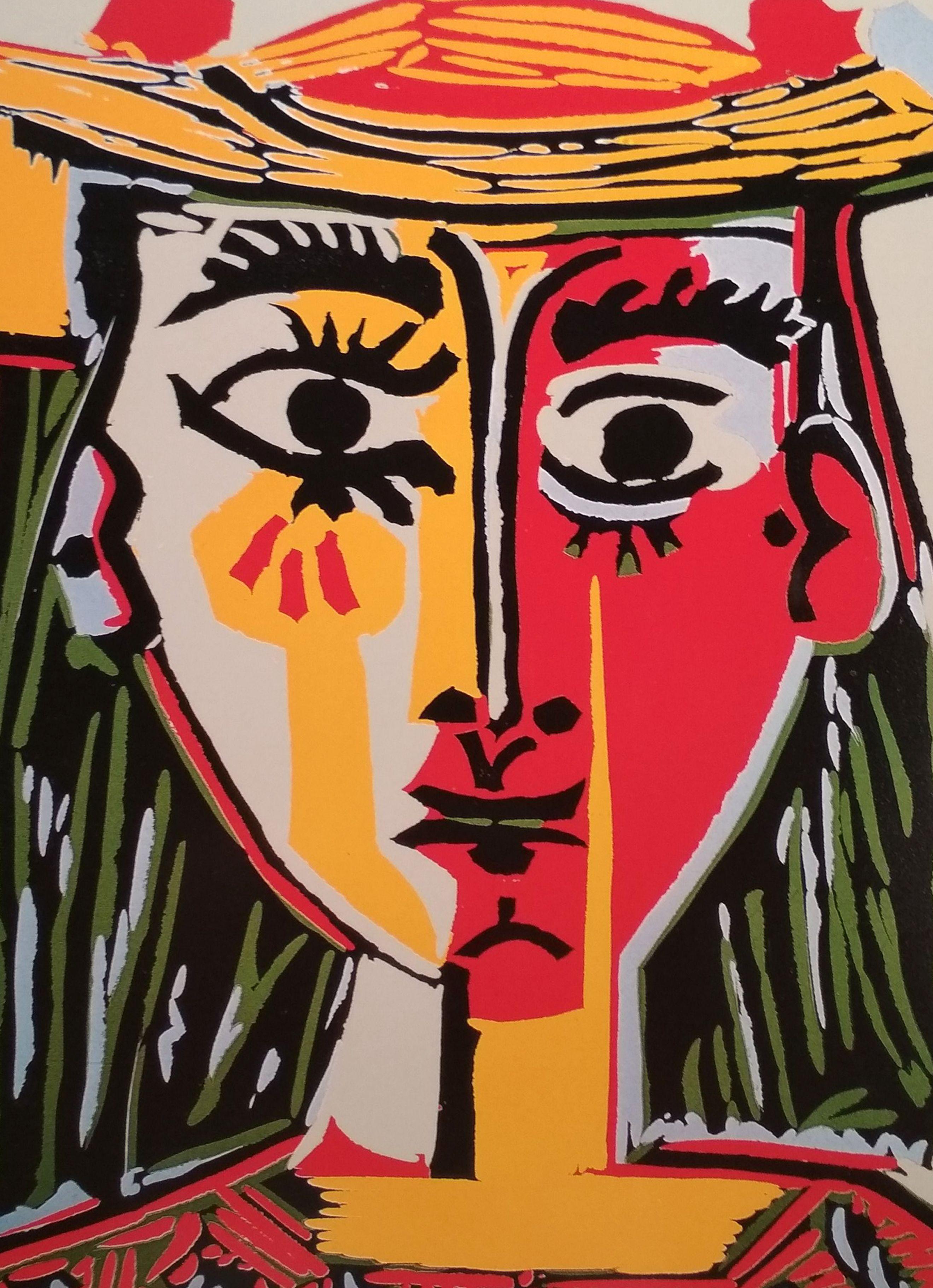 Pablo Picasso Print Head Of A Woman In A Hat 1962 Cubist Art Jacqueline Roque Pablo Picasso Art Cubist Art Picasso Cubism