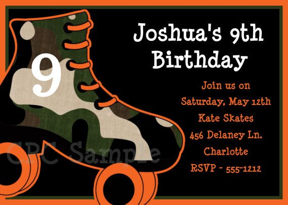 Boys rollerskating birthday party invitations printable or boys rollerskating birthday invitation boys roller skating birthday party invitation print your own or have us filmwisefo Gallery