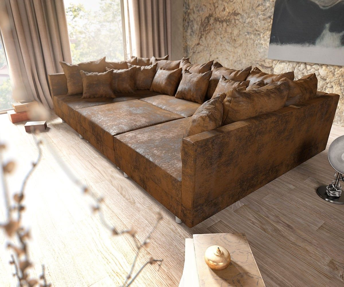 Big Sofa Cabana 304x140 cm Braun Vintage Look by Ultsch | For the ...